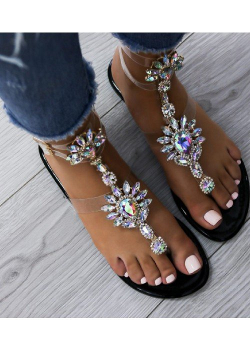 čierne sandále Lara