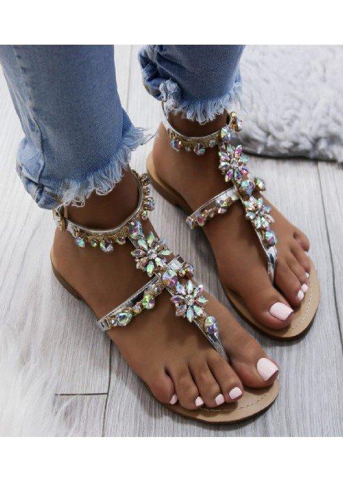 Strieborné sandále Tia