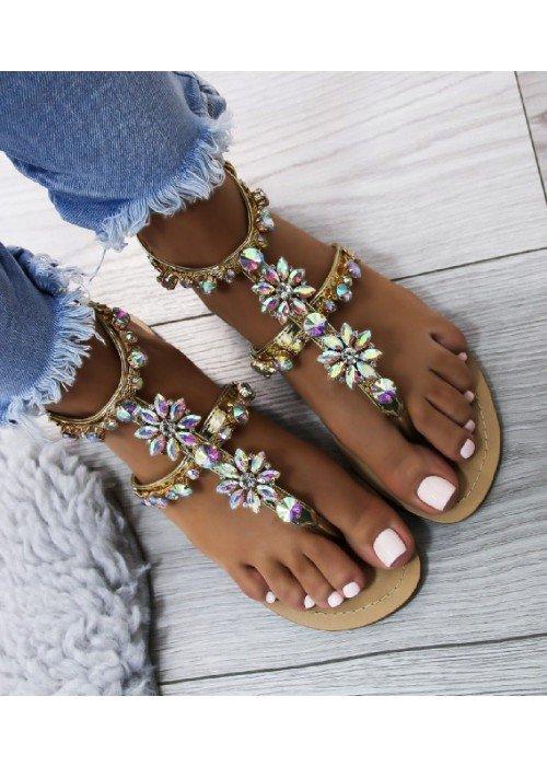 Zlaté sandále Tia