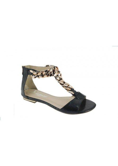 Nízke sandále s reťazou Chain