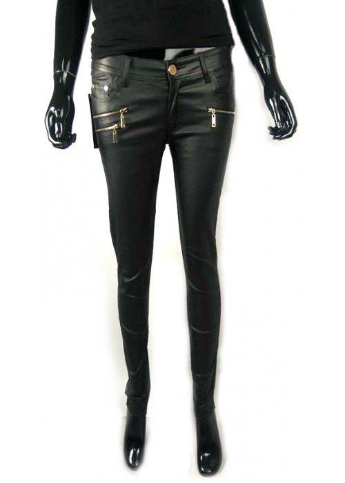 Koženkové nohavice Olivia čierne