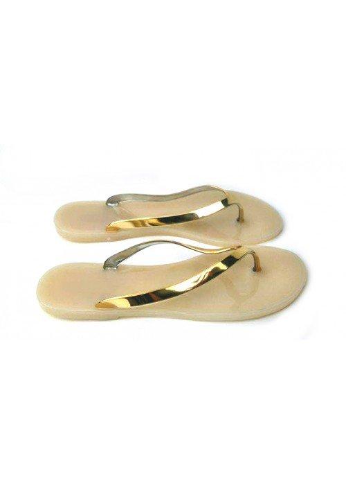 Gumené šľapky Sully zlaté
