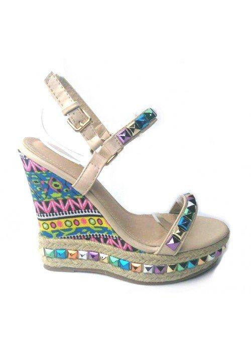 Štýlové sandále na platforme Valentine