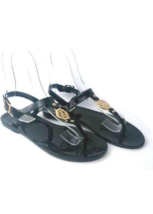 Gumené sandále v štýle Armani čierne