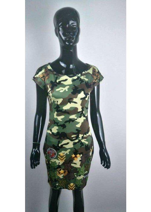 Trendové army šaty