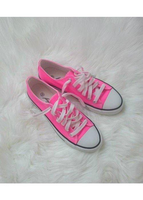 Neónovo ružové tenisky Cony