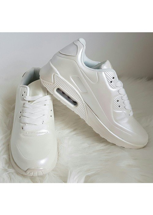 botasky v štýle air max perleťovo biele