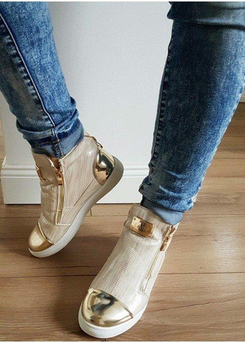 Zateplené topánky Lady zlaté