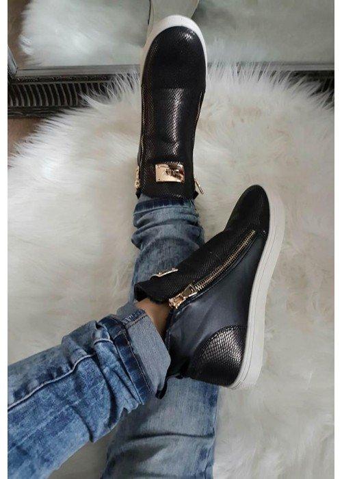 Zateplené topánky Lady 2 čierne