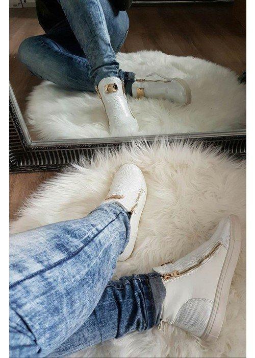 Zateplené topánky Lady 2 biele
