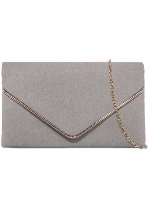 Semišová listová kabelka Sofia sivá