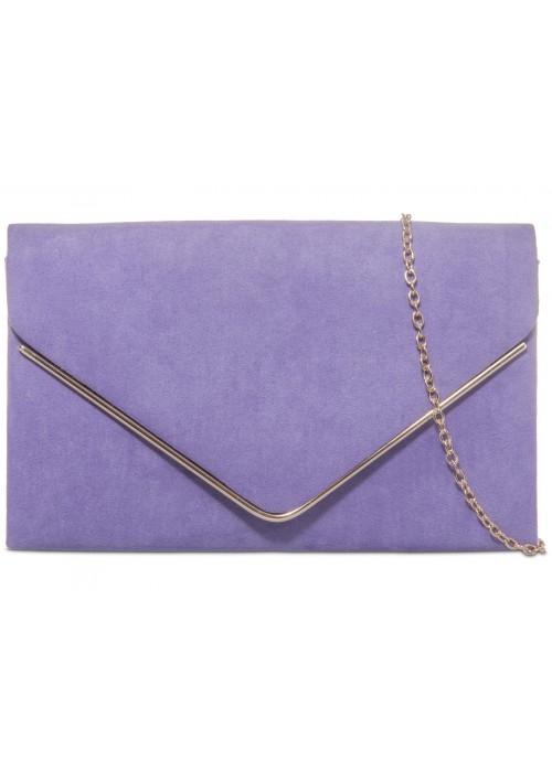 Semišová listová kabelka Sofia fialková