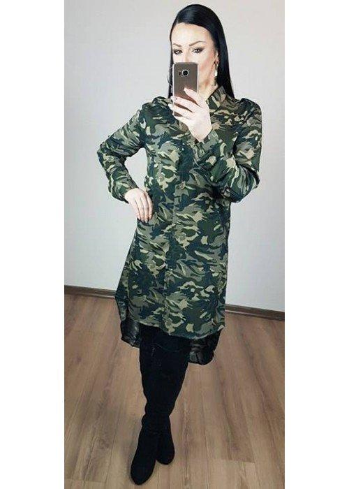 Predĺžená army košeľa alebo šaty