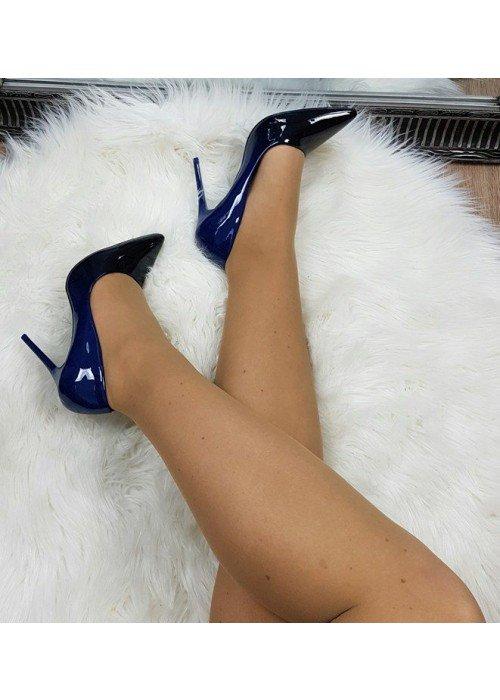 Ombre lodičky modro čierne