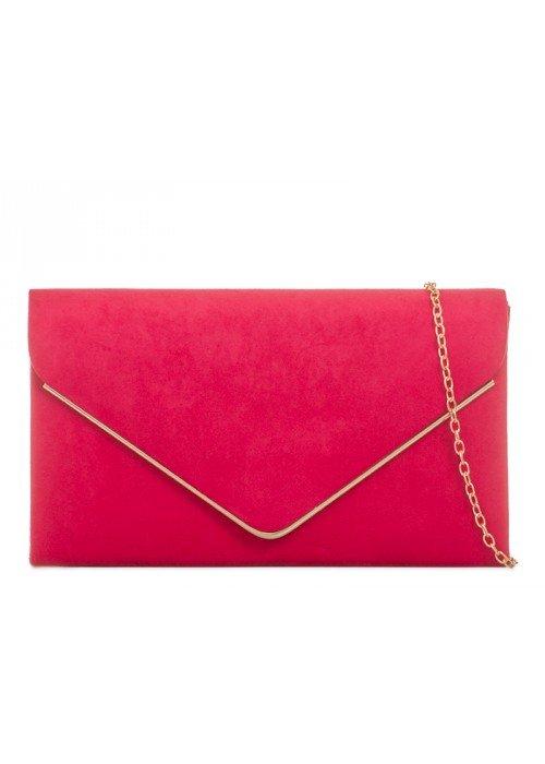 Semišová kabelka Sofia červená