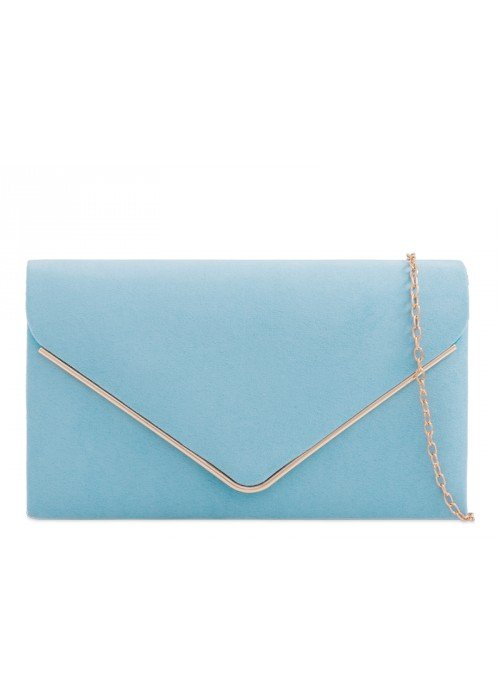 Semišová listová kabelka Sofia svetlo modrá