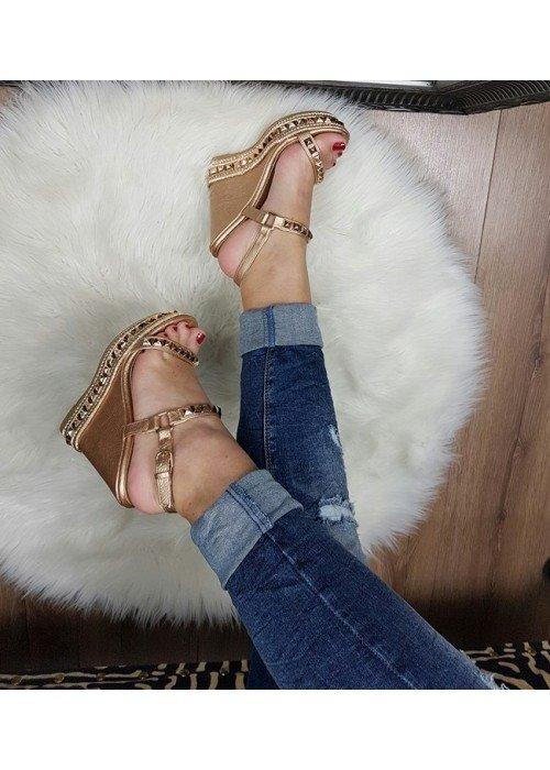 Platformové sandále Tatiana rose gold