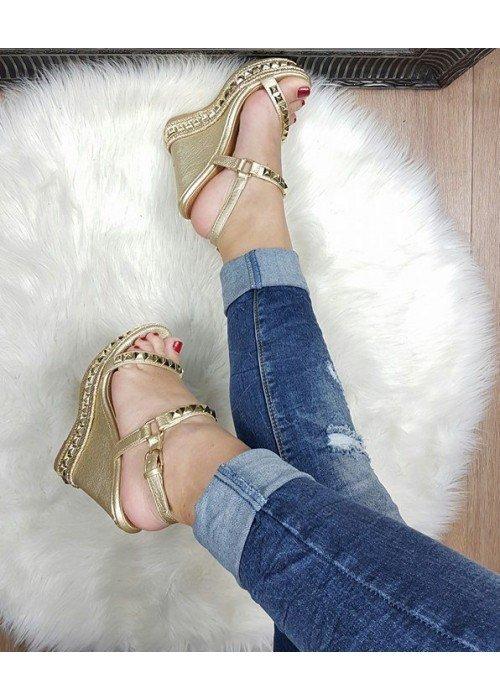 Platformové sandále Tatiana zlaté