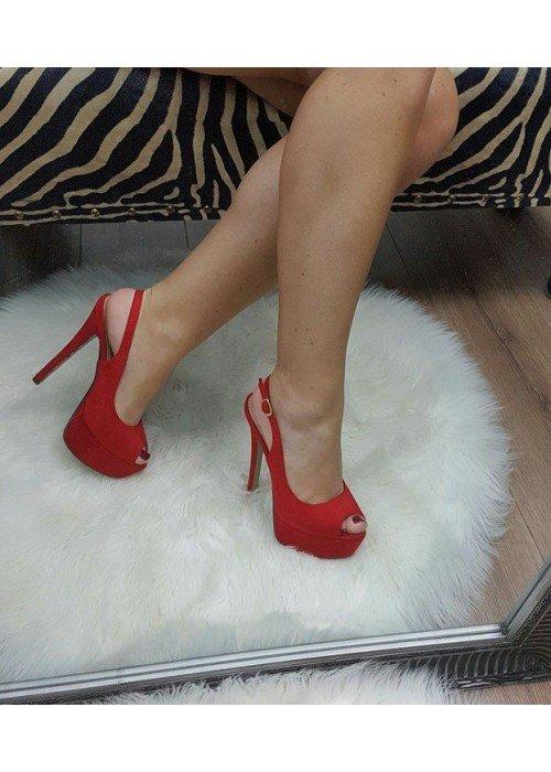 Červené sandále Maya