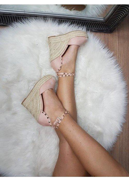 Patformové sandále Vanny ružové