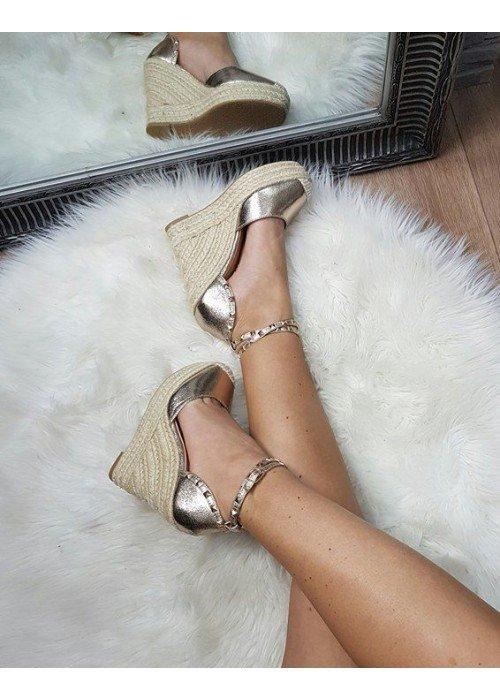 Platformové sandále Vanny zlaté