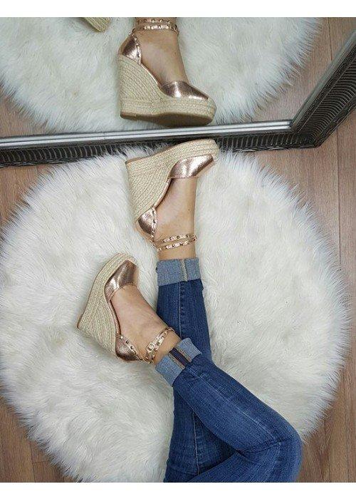 Platformové sandále Vanny rose gold