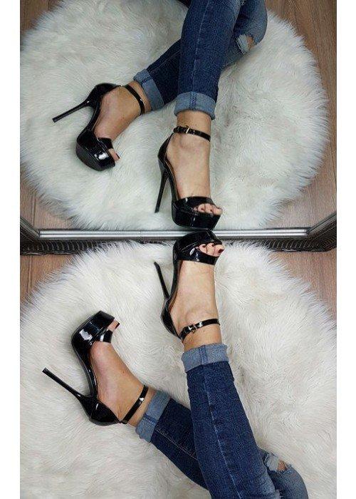 Čierne sandále Gina