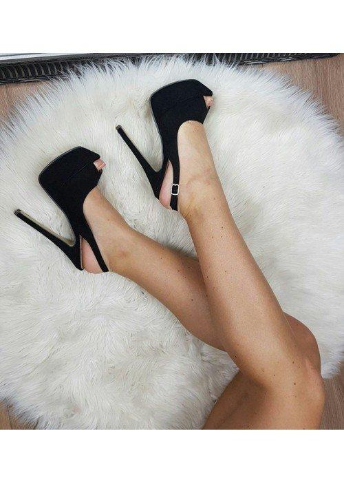 Čierne sandále Maya