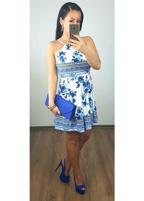 Šaty s modrotlačou