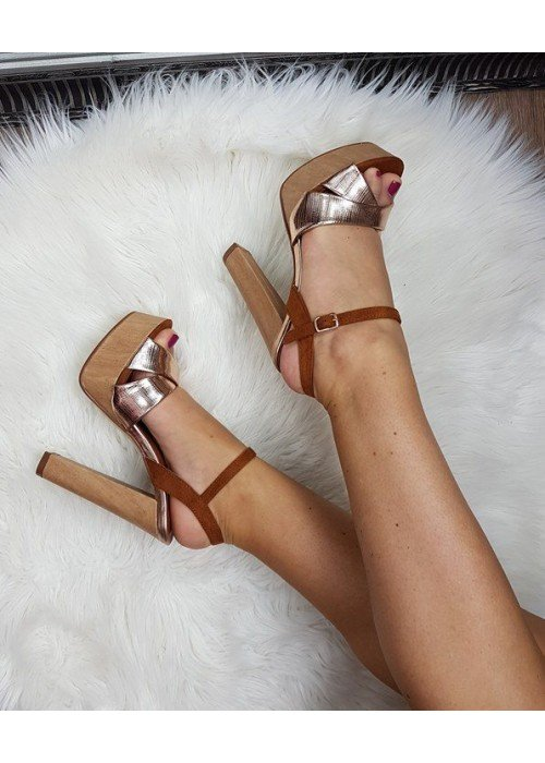 Štýlové sandále Mio rose gold
