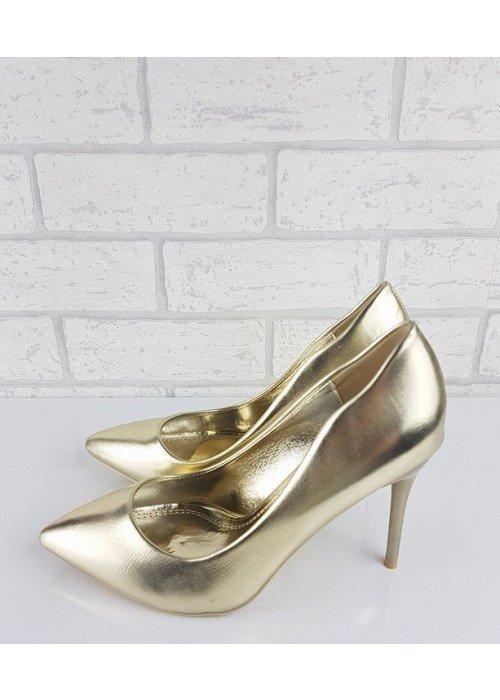 Zlaté metalické lodičky Emma