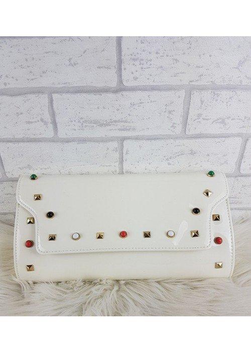 Listová kabelka Vally biela