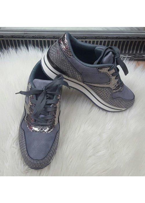 Sivé botasky Bronya