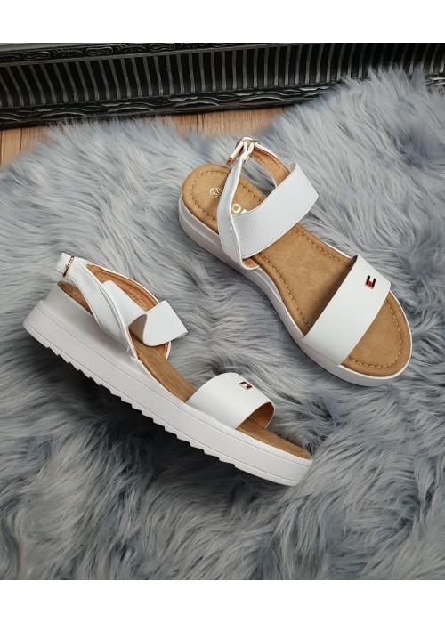 Sandále Tommy biele