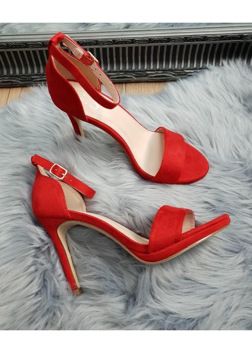 Červené sandále Janice