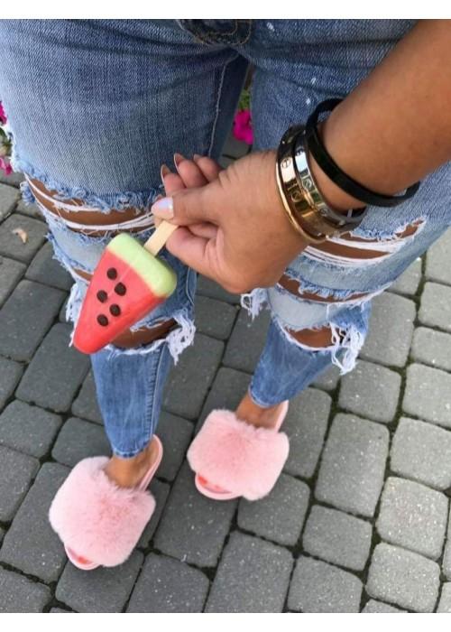 Ružovè chlpaté papuče Furra
