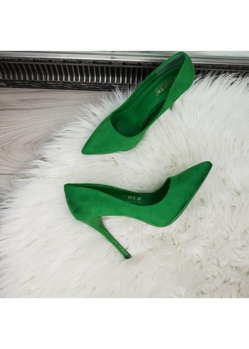 Zelené lodičky Lea