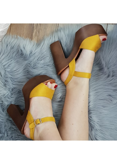 Horčicové sandále Roxy