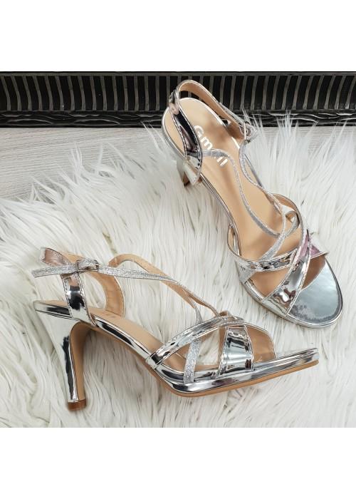 spolocenske sandale Lissy strieborné