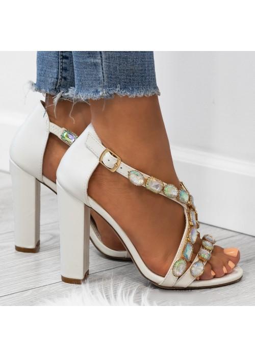Luxusné sandálky Calista biele