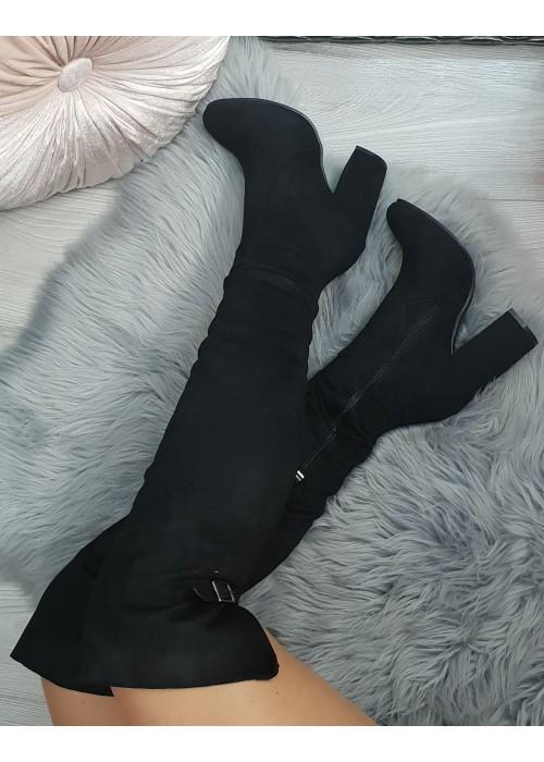 Vysoké čižmy Larissa čierne