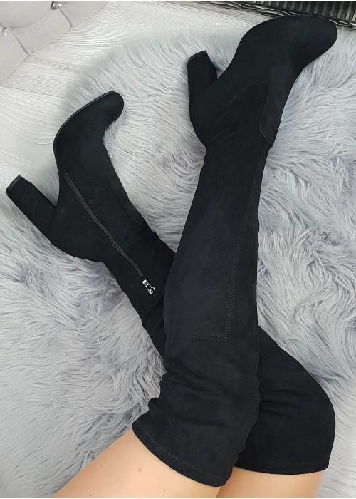 Čierne čižmy Pretty