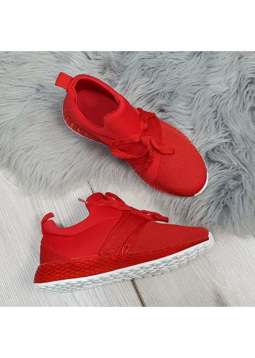 Štýlové botasky Adinas červené