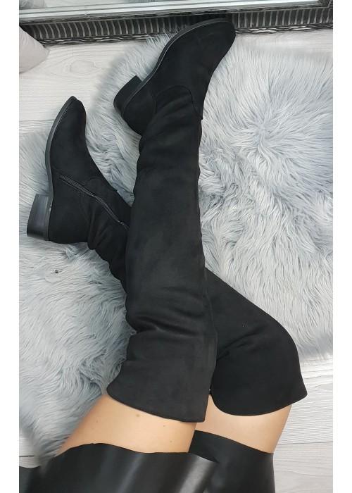 Čierne čižmy nad koleno Michelle