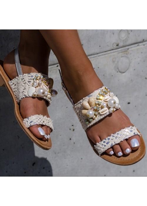 Sandálky s mušličkami Ariela