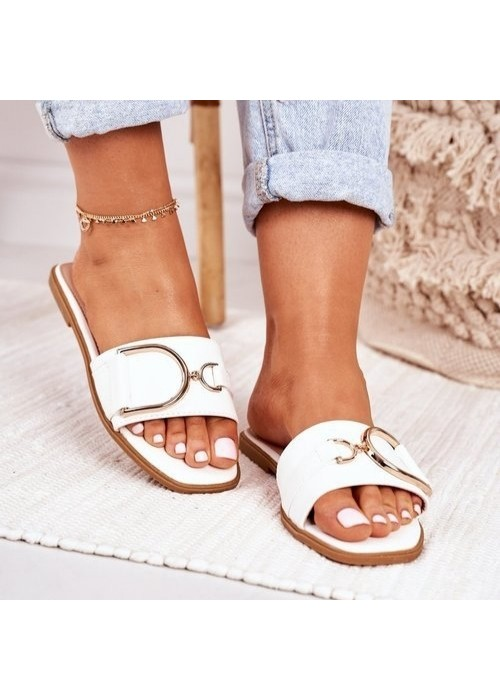 Biele šľapky Diora
