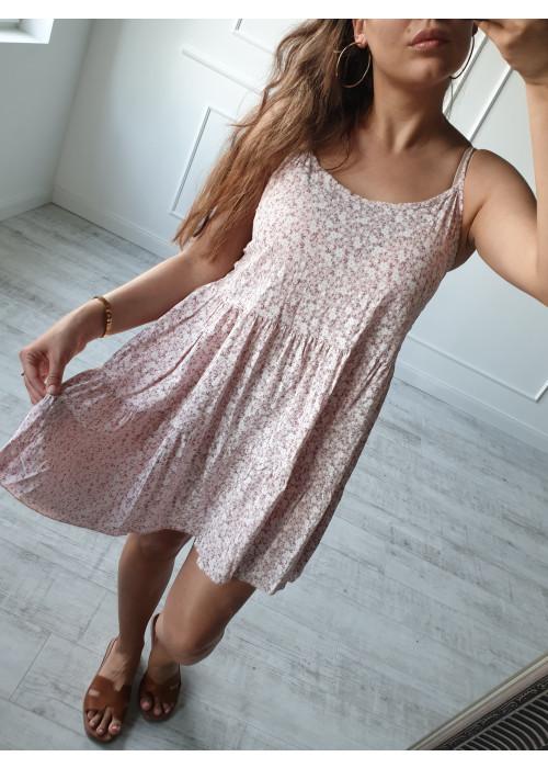 Kvetinové šaty Verna ružové