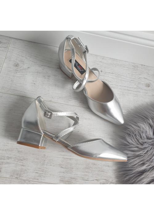 Strieborné sandále Olli
