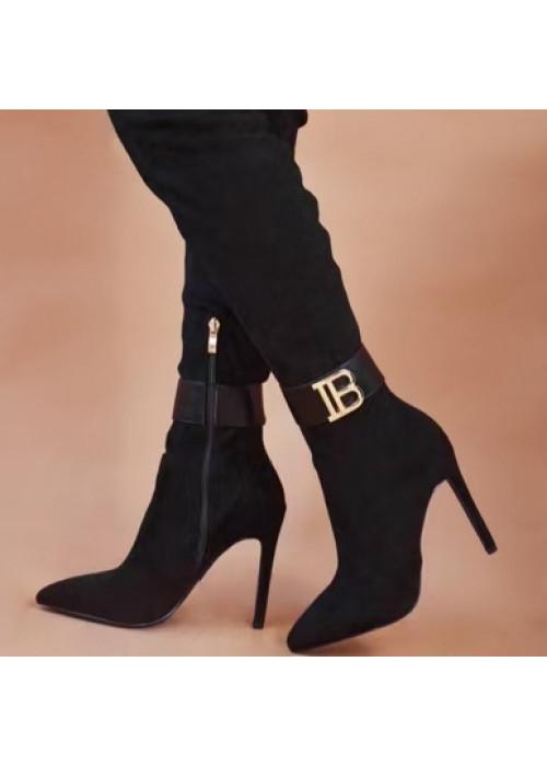 Čierne čižmy nad koleno Balmani