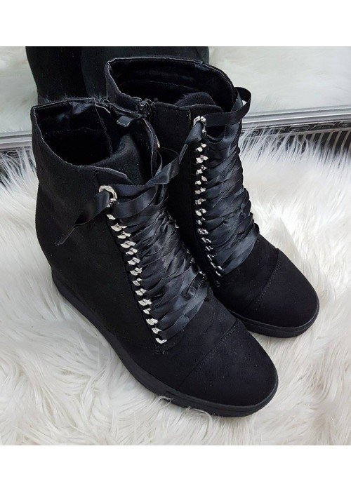 Platformové kotničky Cassy čierne